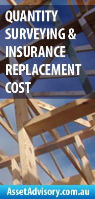 Quantity Surveying & Insurance Replacement Cost 20 Years