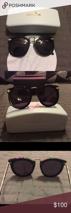 Karen Walker Sunglasses pre loved Karen Walker Sunglasses , just used couple of times , No scratches, it comes with case and the cloth Karen Walker Accessories Sunglasses