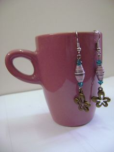My favourite - Upcycled Paper Bead Earrings  Dangling by NightLightCrafts on Etsy, $18.00