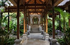 Strolling through aisles of air and light...  Royal Pita Maha - Bali