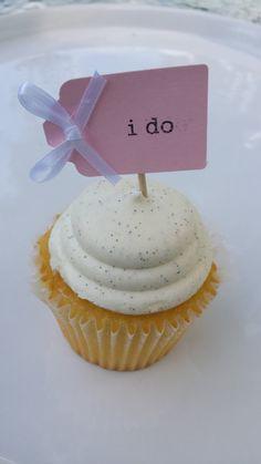 I Do Wedding Cupcake Topper Wedding Cupcake by thefavorstation