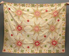 """Love, love, love! ~ 19th c. folk art Masonic (?) quilt signed """"Sarah Burbridge 1856"""". 63"""" x 78"""""""