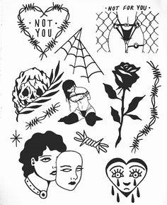 Aesthetic Drawing – 75 Picture Ideas – Drawing Ideas and Tutorials Mini Tattoos, Love Tattoos, Body Art Tattoos, Small Tattoos, Tattoo Sketches, Tattoo Drawings, Cool Drawings, Graffiti Art, Blackwork