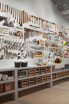 diy garage storage organization – how to design a garage Workshop Storage, Workshop Organization, Garage Workshop, Garage Organization, Workshop Ideas, Workshop Studio, Workshop Layout, Workshop Design, Tool Shed Organizing