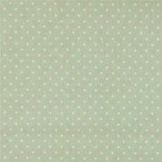 Textilwachstuch, Hellgrün mit weißen Pun
