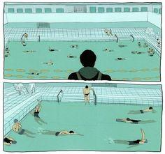 A Taste of Chlorine by Bastien Vives Lovely graphic novel.