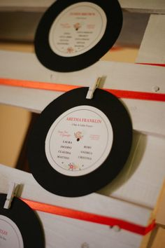 vinyl seating chart // photo: Elisabetta Marzetti