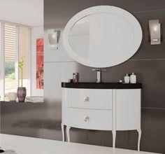 Mueble de baño de lujo Dalí blanco brillo