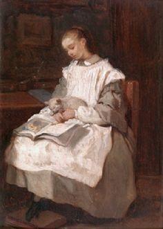 Gallait, Louis (b,1810)– Madame Bucheron-Gallait Enfant
