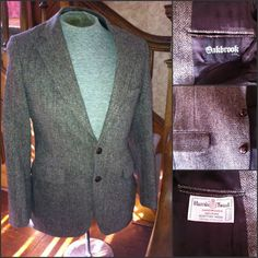 Brown Wool HARRIS TWEED Sport Coat  36 S  by VoraciouslyVintage