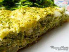 Quiche de Brócolis, perfeito para um lanche. Clique na imagem para ver a receita no blog Manga com Pimenta.