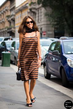 Viviana Volpicella Street Style Street Fashion Streetsnaps by STYLEDUMONDE Street Style Fashion Photography
