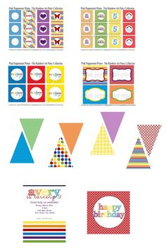 Rainbow party printables
