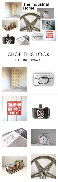 """""""The Industrial Home"""" by beejaykay ❤ liked on Polyvore featuring interior, interiors, interior design, home, home decor, interior decorating, Tennsco, 1937, Krups and vintage"""