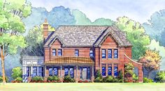 Classic Craftsman, Cottage & Western Timber Mountain Homes > Gallery of Homes > Renderings