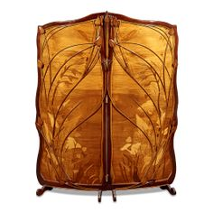 French Art Nouveau Room Screen Glass Design, Design Art, Art Nouveau Furniture, Glass Installation, Room Screen, Stained Glass Art, French Art, Sea Glass Jewelry, Art And Architecture