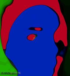Digital Art   Abstract Portrait   Portrait Paintings   Potrait Illustration   Self-Portrait by Banu Haznedar