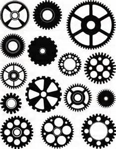 We're giving a nod to the popular industrial motif with our gears design. Shown here using 2 collections (garnet and black). Steampunk Patterns, Steampunk Design, Steampunk Kunst, Steampunk Gears, Biomech Tattoo, Maker Fun Factory Vbs, Herz Tattoo, 3d Cnc, Gear Art