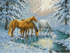 Visit From Spot - Cross Stitch Pattern from Kathy Barrick. Model stitched on your choice of fabric using either Needlepoint Silks or DMC 919 3011 524 356 3047 3046 225 3045 3861 Stitch count of larger sampler and stitch count of smaller sampler is Cross Stitch Horse, Cross Stitch Boards, Cross Stitch Animals, Counted Cross Stitch Patterns, Cross Stitch Embroidery, Hand Embroidery, Dimensions Cross Stitch, Everything Cross Stitch, Running Horses
