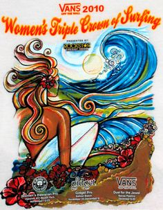 979c263c5a 2010 Van s Women s Triple Crown of Surfing poster by surf artist Colleen  Malia Wilcox