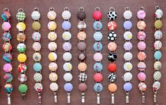 Fabric-covered buttons made into adorable bracelets
