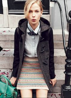 Women can TOTALLY wear bowties! Coat by Madewell