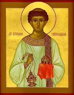 Saint Stephen, great saint, and my brother's namesake!