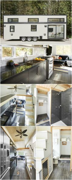 Container House - 440 Square Foot Lillooet Tiny House by West Coast… - Who Else Wants Simple Step-By-Step Plans To Design And Build A Container Home From Scratch? Tyni House, Tiny House Living, Small Living, Tiny House 2 Bedroom, Living Room, Tiny House Movement, Tiny House Plans, Tiny House On Wheels, Tiny House Trailer Plans