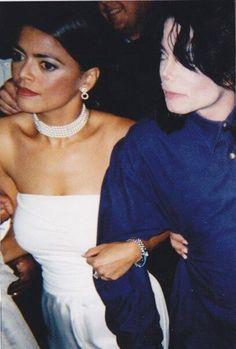 Michael Jackson and Prudence Soloman. She kind of looks like Blanket.