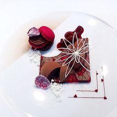 Chocolate and cherry by @fredrik_gustafsson #TheArtOfPlating