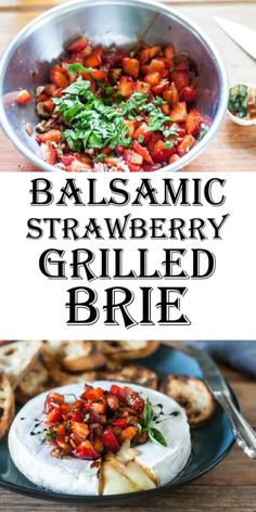 This Grilled Brie Appetizer with Balsamic Strawberries from Binky's Culinary Carnival is the perfect, ridiculously easy appetizer for your next cook-out! Sweet from the strawberries, a bit of tart from the balsamic, and so creamy!