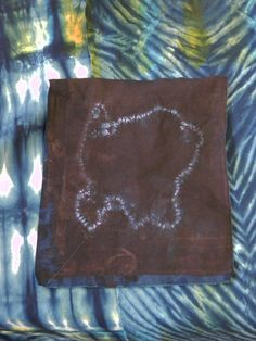 Hand dyed fabric using indigo in Stephanie Robertson's Making Your Mark class at Sievers.