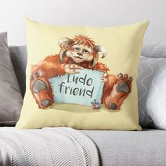 Ludo from Labyrinth. Cushion, tote bag or mug. Www.redbubble.com/people/Artsez