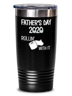 Father's Day Tumbler | Father's Day 2020 Tumbler Rollin With It. This is a UV laser Printed tumbler – this is NOT vinyl – the design is permanently printed on the color powder coating making a colorful and high-quality gift! Offered in 7 amazing colors! These also make amazing gifts for all occasions due to their functionality and versatility. #FathersDayTumbler #Tumbler #PrintedTumbler #GiftForFather #impropermug
