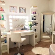 makeup vanity. organize makeup. makeup storage. makeup display. ikea. youtube background. beauty room. beauty room tour. chiclypoised.