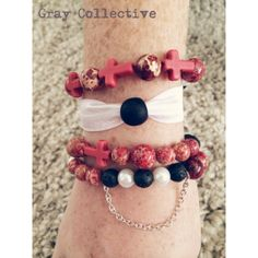 College Themed Sets Reds & Blacks by GrayCollective on Etsy, $26.00