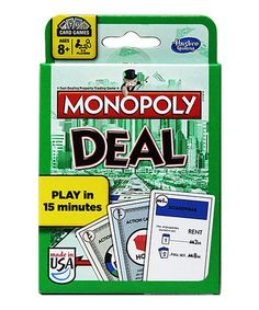 Monopoly Deal Card Game This would be great for camping!