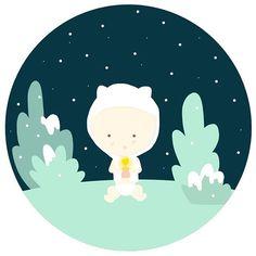 m y  l i t t l e  l i g h t  i n  a  c r a z y  w o r l d . . .  #illustration #drawing #childrenbook #babygaby #instakids #mylittlestory #babygirl  #designgraphic #light #winter #love