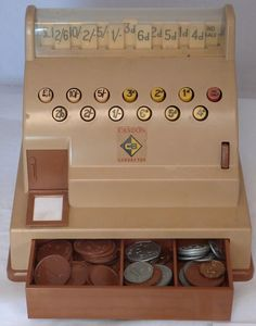 Casdon retro till/cash register toy - This is the same one I had  I think it was my sisters first