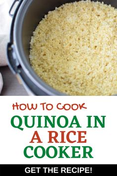 I really want to try new gluten-free quinoa recipes and this tutorial on Cooking Quinoa in a Rice Cooker looks so simple! I can't wait make this for meal prep to make life easier during the week.  It looks like the perfect way to cook perfect quinoa.  SO PINNING! #wendypolisi #glutenfree #glutenfreerecipes #healthyrecipes #howtocookquinoa Best Quinoa Recipes, Quinoa Salad Recipes, Healthy Recipes For Weight Loss, Gluten Free Recipes, Healthy Dinner Recipes, Great Recipes, Perfect Quinoa, How To Cook Quinoa, Rice Cooker
