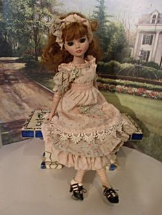 ELLOWYNE MSD TEA DYED HISTORIC GARDEN LAWN MOPPET STYLE FASHION OUTFIT DRESS