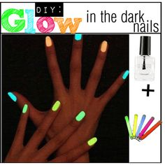 Why doing your won glow in the dark nail polish is a bad idea l kats-wonderful-world.blogspot.com
