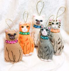 Little cats whiteblack & assorted colors with by KarenKattCrafts