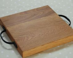 Solid Oak Hand Crafted Round Cheese Board by OakAndPersonal