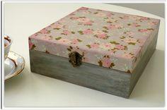 Simple/ Romantic/  decoupage tea box via Etsy