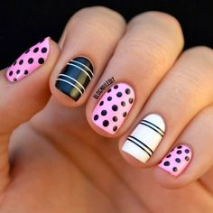 Pretty & easy nails design  Free Nail Technician Information   http://www.nailtechsuccess.com/nail-technicians-secrets/?hop=megairmone
