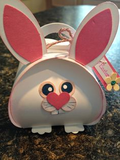 Here comes Peter Cotton Tail by Whimsiewear! Curvy Keepsake Die for a cute Easter Treat Box