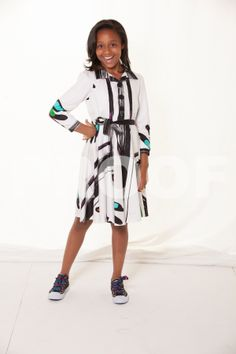 """Mojo-Fashions """"Flare"""" Dress with Collar"""