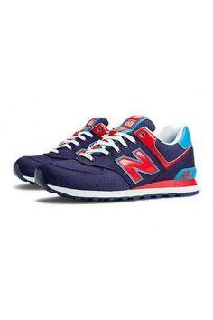 620db18a9163 2014 Women New Balance 574 Passport Sneaker Navy RedOutlet