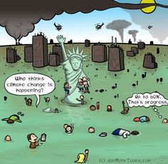 In this Moms Clean Air Force climate change poll cartoon we see a polluted, flooded NYC with people still denying that climate change exists. Save Our Earth, Save The Planet, Political Art, Political Cartoons, Climate Change Denial, Climate Change Quotes, Cartoon Mom, Satirical Illustrations, Global Warming
